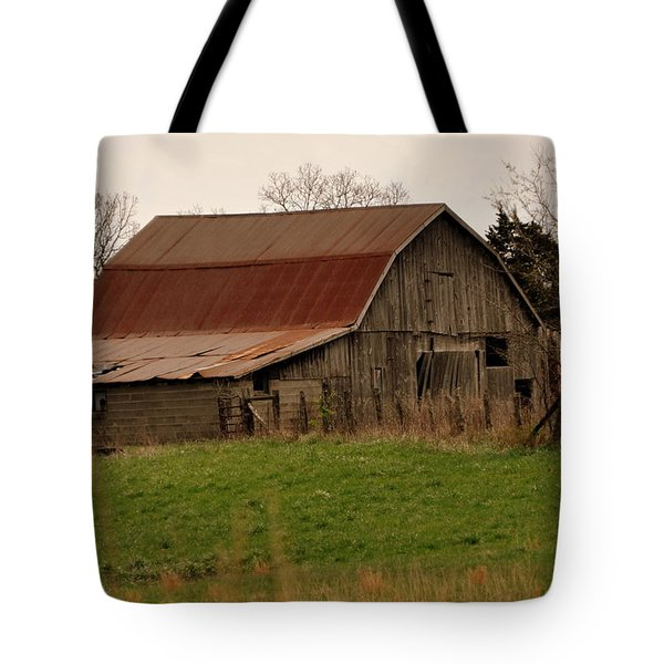 Springtime Barn Tote Bag by Marty Koch