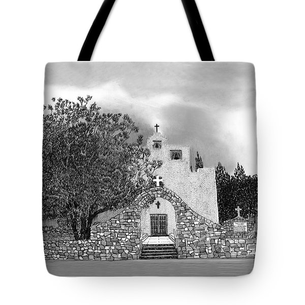 St Franncis De Paula Mission Tote Bag by Jack Pumphrey