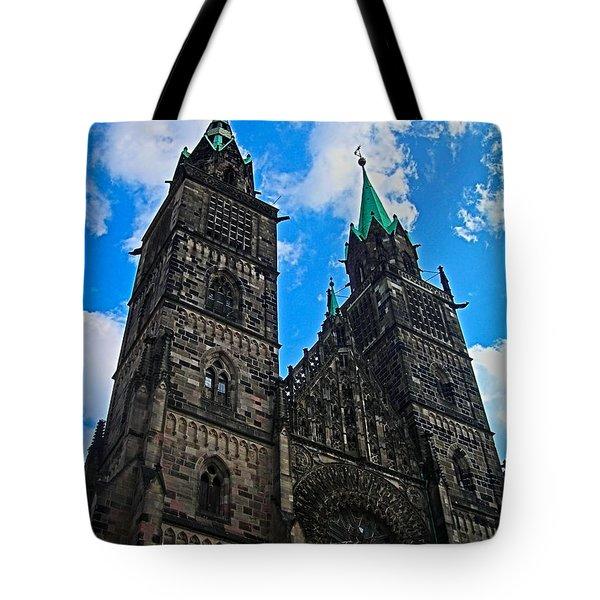 St. Lorenz Church - Nuremberg Tote Bag by Juergen Weiss