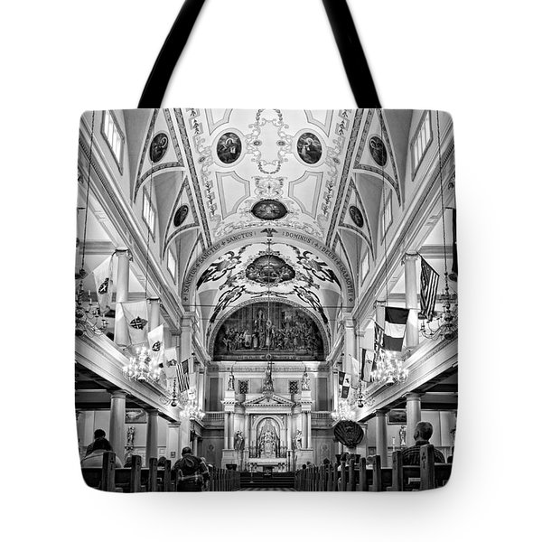 St. Louis Cathedral Monochrome Tote Bag by Steve Harrington