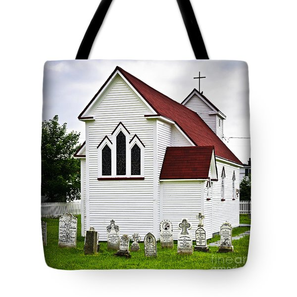 St. Luke's Church And Cemetery In Placentia Tote Bag by Elena Elisseeva