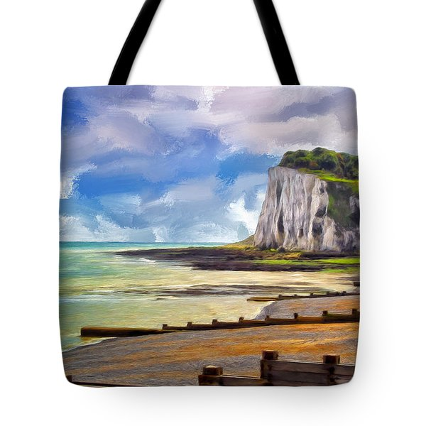 St. Margaret's Bay At Dover Tote Bag by Dominic Piperata