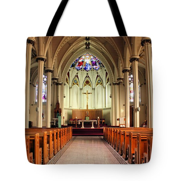 St. Mary's Basilica Halifax Tote Bag by Kristin Elmquist