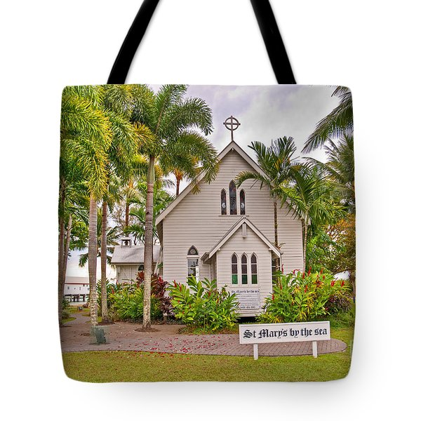 St Mary's By The Sea Tote Bag by Bob and Nancy Kendrick