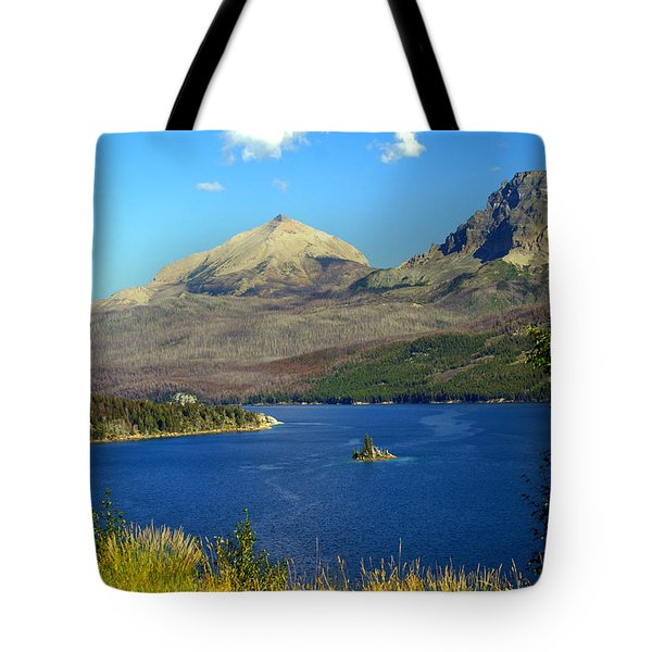St. Mary's Lake 1 Tote Bag by Marty Koch