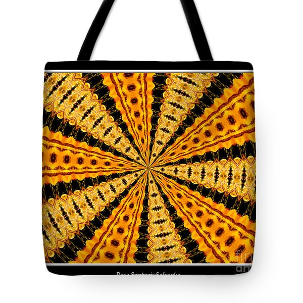 Stained Glass Kaleidoscope 37 Tote Bag by Rose Santuci-Sofranko