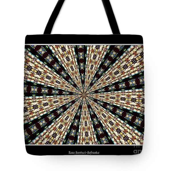 Stained Glass Kaleidoscope 39 Tote Bag by Rose Santuci-Sofranko
