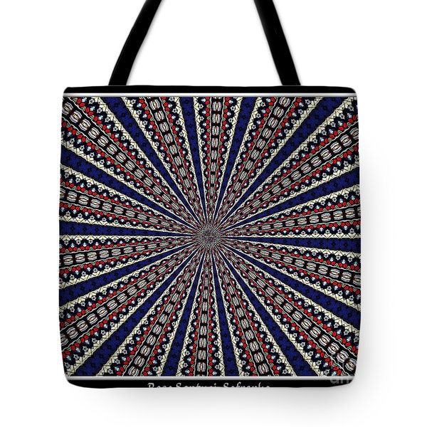Stained Glass Kaleidoscope 49 Tote Bag by Rose Santuci-Sofranko