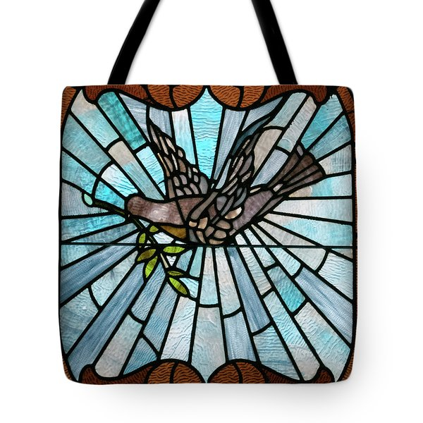 Stained Glass Lc 14 Tote Bag by Thomas Woolworth