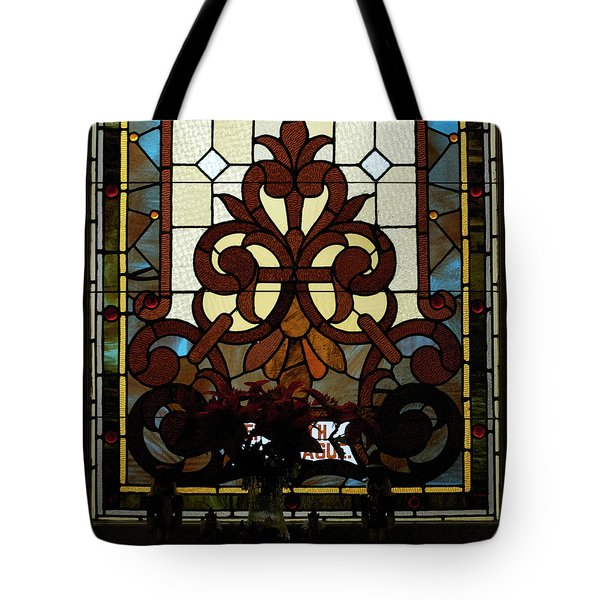 Stained Glass Lc 16 Tote Bag by Thomas Woolworth