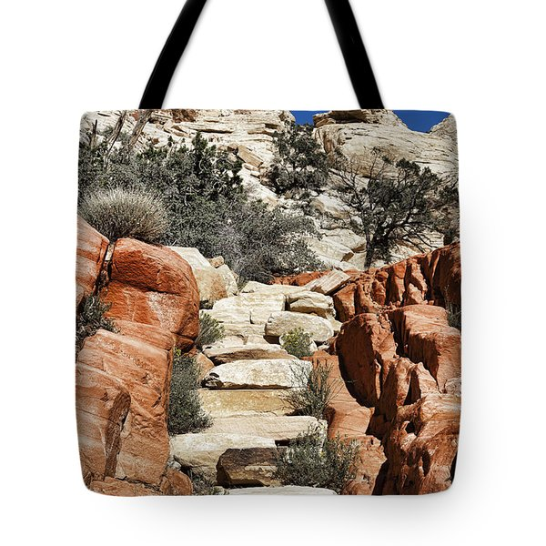 Staircase Stones Tote Bag by Kelley King
