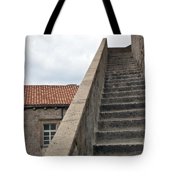 Stairway In Dubrovnik Tote Bag by Madeline Ellis
