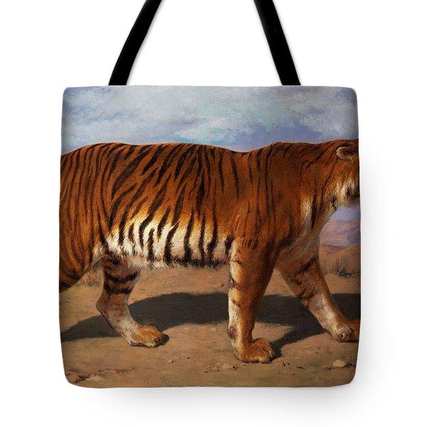 Stalking Tiger Tote Bag by Rosa Bonheur