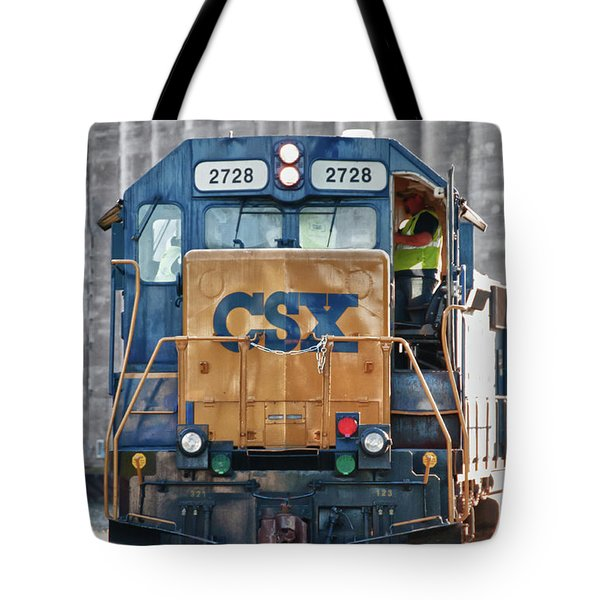 Stalled 7141 Tote Bag by Guy Whiteley