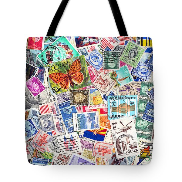 Stamp Collection . 2 To 1 Proportion Tote Bag by Wingsdomain Art and Photography