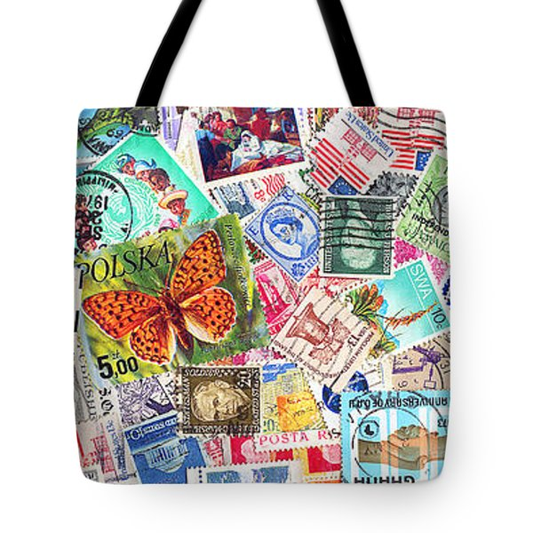 Stamp Collection . 3 to 1 Proportion Tote Bag by Wingsdomain Art and Photography