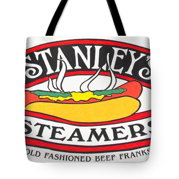 Stanley's Steamers Hot Dog Sign - 5d17929 - Painterly Tote Bag by Wingsdomain Art and Photography