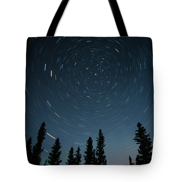 Star Trails, Sandilands Provincial Tote Bag by Mike Grandmailson