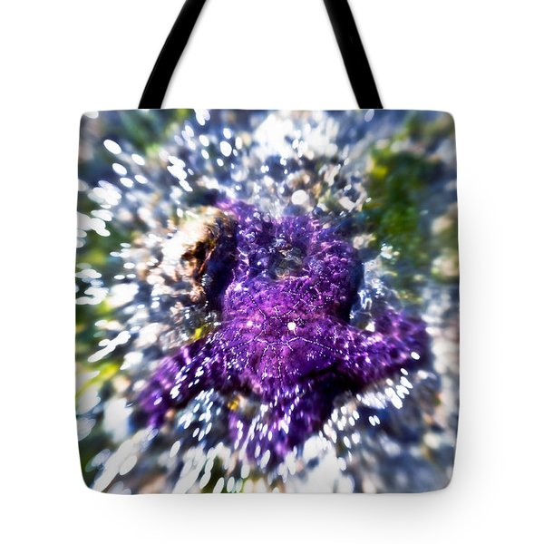 Starfish In The Surf Tote Bag by Venetta Archer