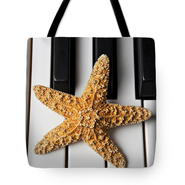 Starfish Piano Tote Bag by Garry Gay