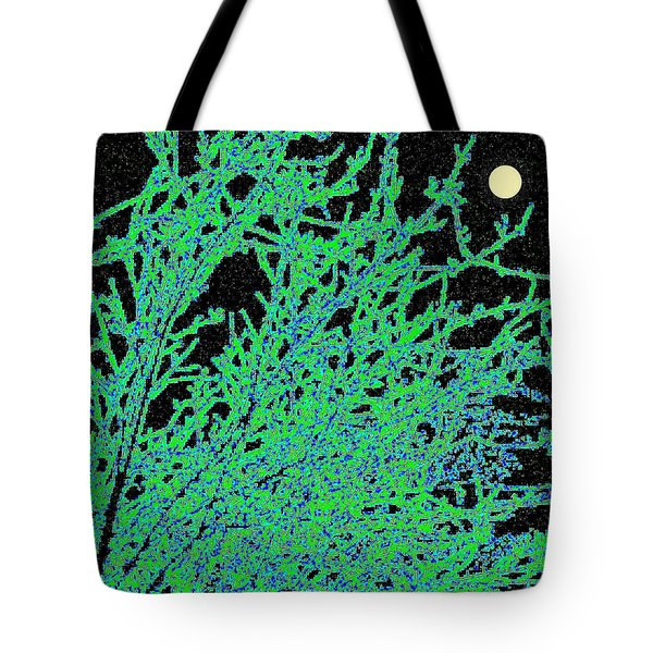 Starry Moonlit Night Tote Bag by Will Borden