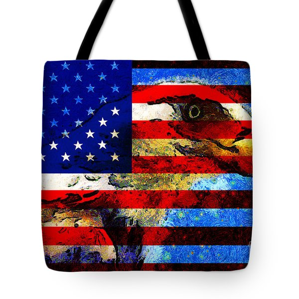 Starry Nights In America . 40D6715 Tote Bag by Wingsdomain Art and Photography