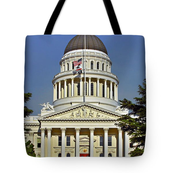 State Capitol Building Sacramento California Tote Bag by Christine Till