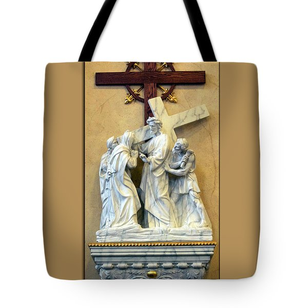 Station Of The Cross 04 Tote Bag by Thomas Woolworth