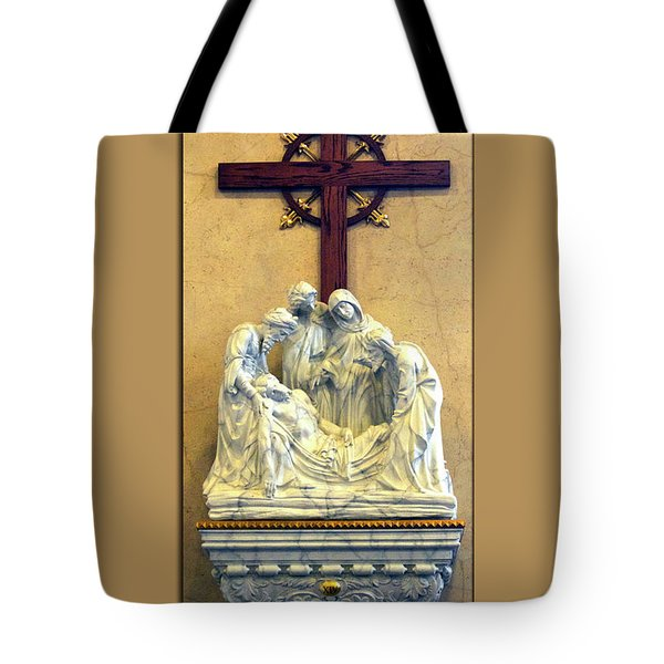 Station Of The Cross 14 Tote Bag by Thomas Woolworth