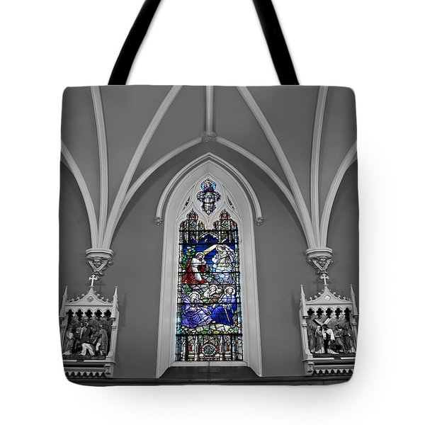 Stations Of The Cross Tote Bag by Susan Candelario