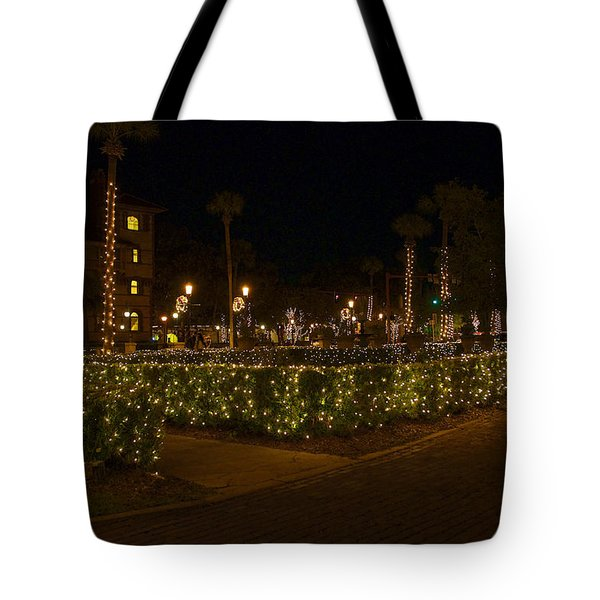 St.AugustineLights1 Tote Bag by Kenneth Albin