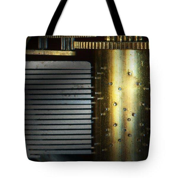 Steampunk - Gears - Music Machine Tote Bag by Mike Savad