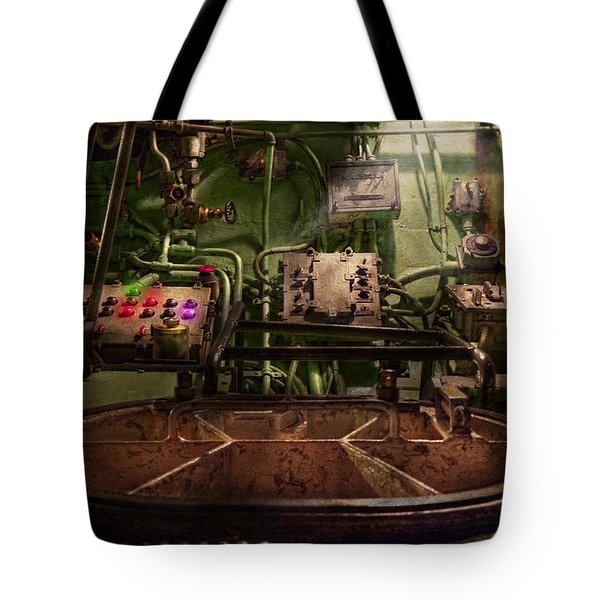 Steampunk - Naval - This is where I do my job Tote Bag by Mike Savad