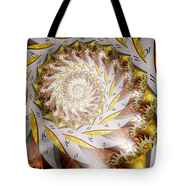 Steampunk - Spiral - Time Iris Tote Bag by Mike Savad