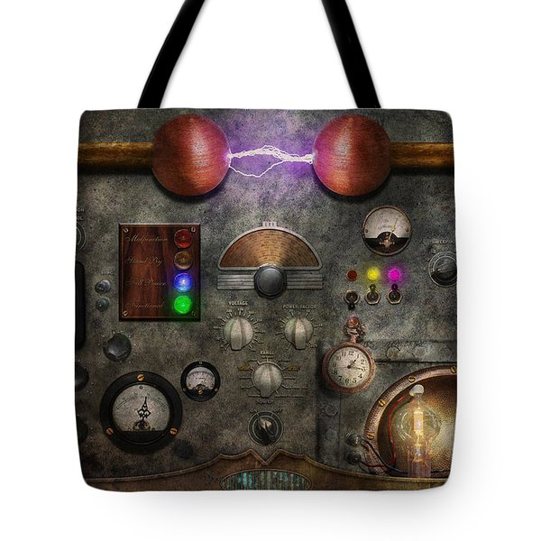 Steampunk - The Modulator Tote Bag by Mike Savad