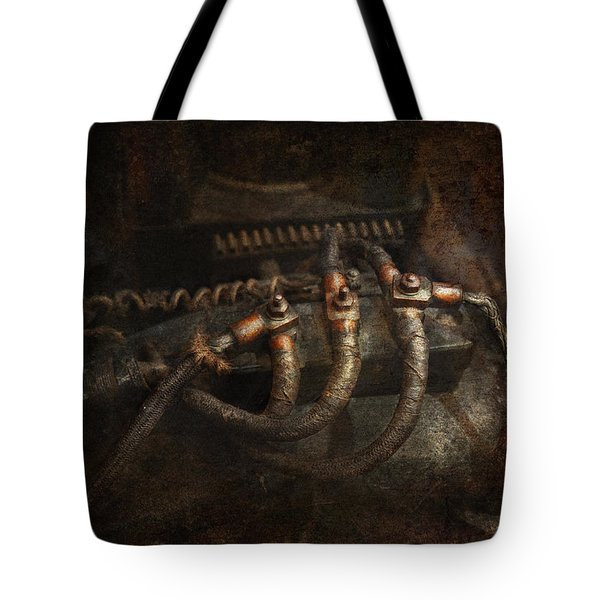Steampunk - Electrical - Frayed Connections Tote Bag by Mike Savad