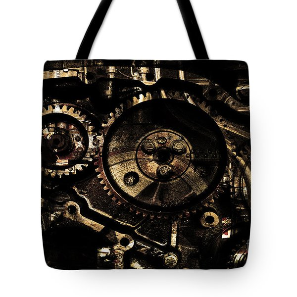 Steampunk Personal Decompression Chamber Model 39875DA78803 Fully Accessorized . Gold Plated Luxury  Tote Bag by Wingsdomain Art and Photography