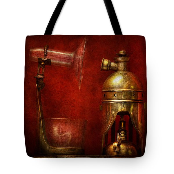 Steampunk - The Torch Tote Bag by Mike Savad