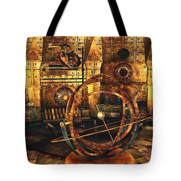 Steampunk Time Lab Tote Bag by Jutta Maria Pusl