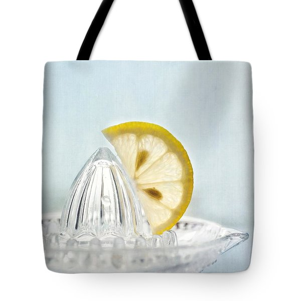 Still Life With A Half Slice Of Lemon Tote Bag by Priska Wettstein