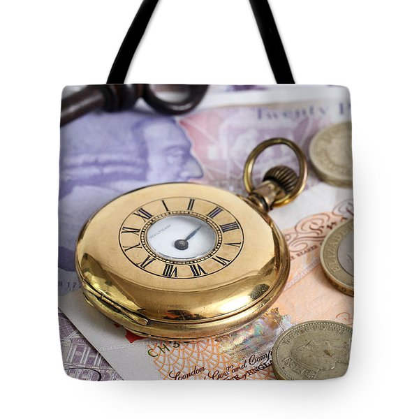 Still Life With Pocket Watch, Key Tote Bag by Photo Researchers