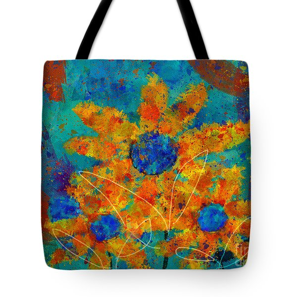 Stimuli Floral -s01t01 Tote Bag by Variance Collections