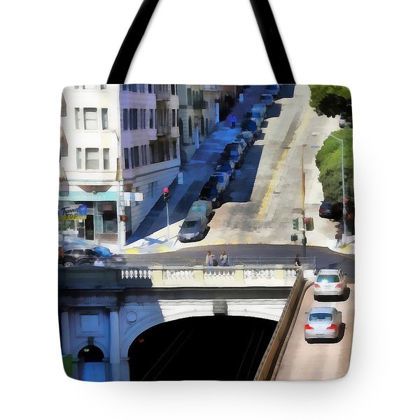 Stockton Street Tunnel in Hilly San Francisco . 7D7499 Tote Bag by Wingsdomain Art and Photography