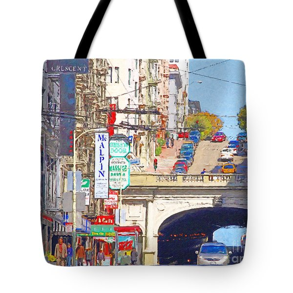 Stockton Street Tunnel in San Francisco . 7D7355 Tote Bag by Wingsdomain Art and Photography