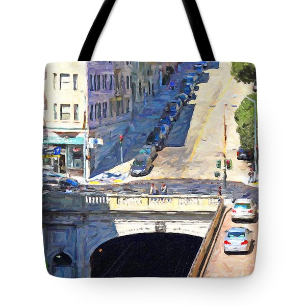 Stockton Street Tunnel Midday Late Summer in San Francisco Tote Bag by Wingsdomain Art and Photography