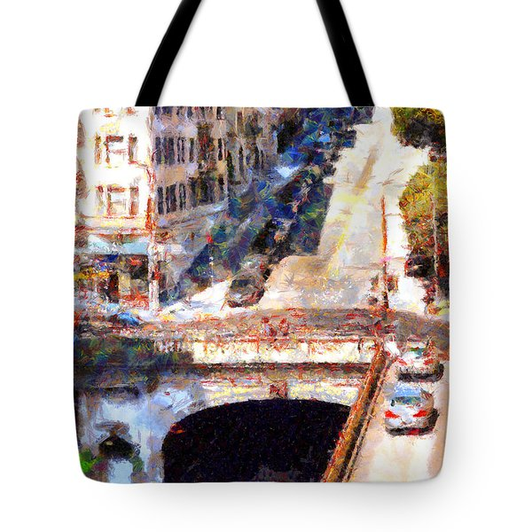 Stockton Street Tunnel San Francisco . 7D7499 Tote Bag by Wingsdomain Art and Photography