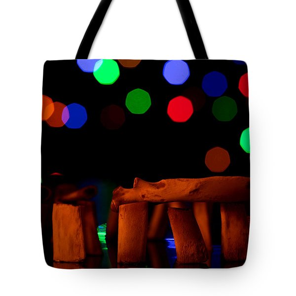 Stonehenge In Starry Night Tote Bag by Paul Ge
