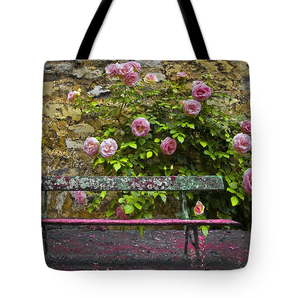 Stop And Smell The Roses Tote Bag by Debra and Dave Vanderlaan