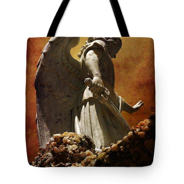 STOP in the name of God Tote Bag by Susanne Van Hulst