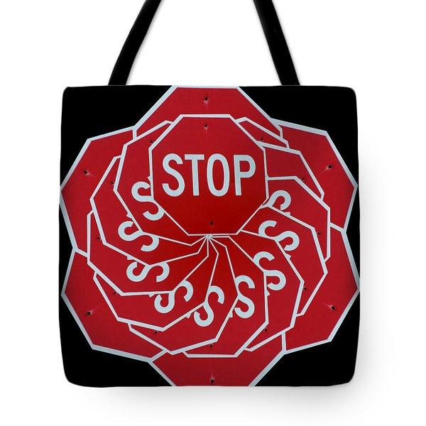 Stop Sign Kalidescope Tote Bag by Denise Keegan Frawley